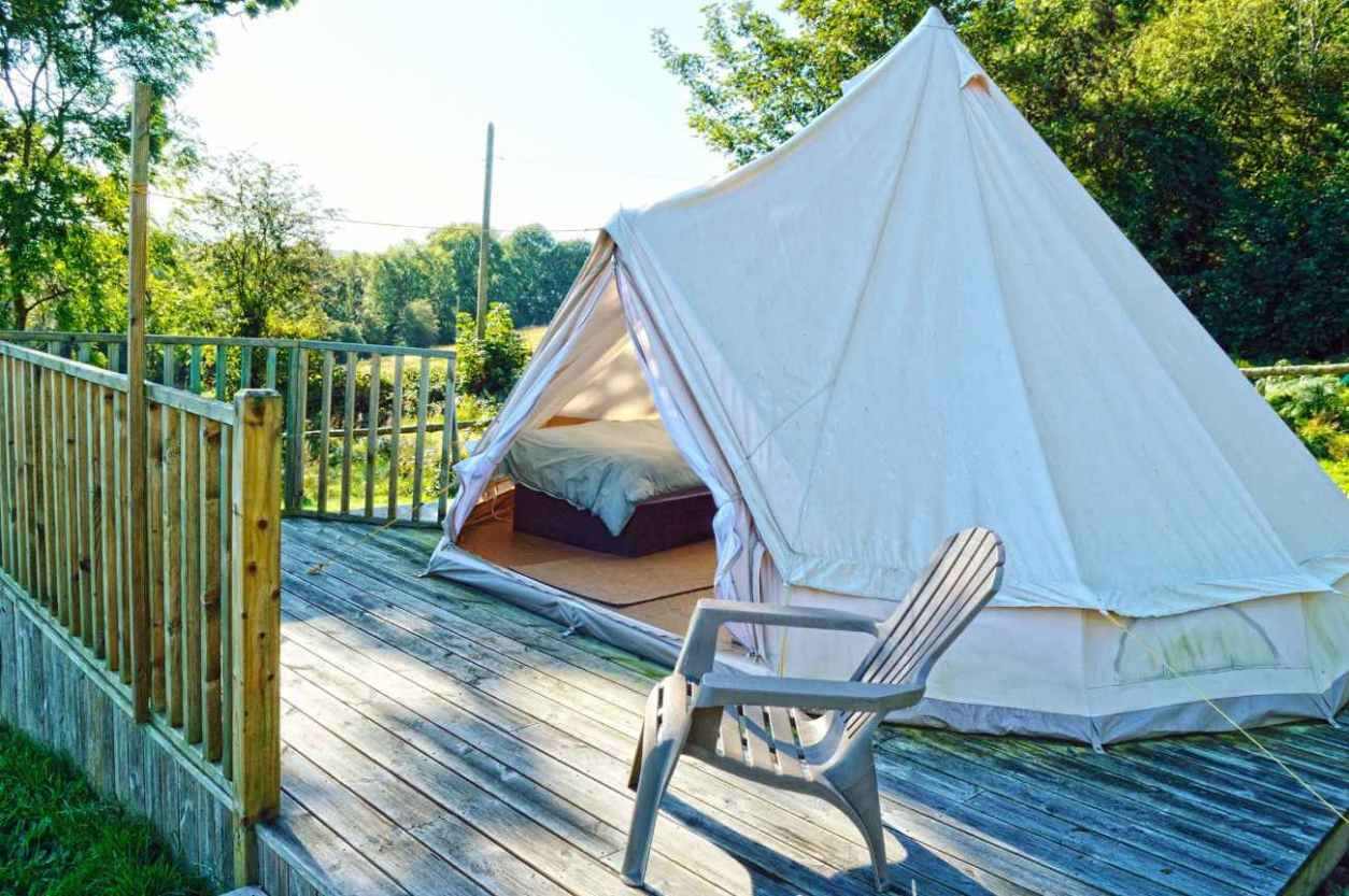 white-butterfly-valley-bell-tent-on-decking-glamping-kilkenny