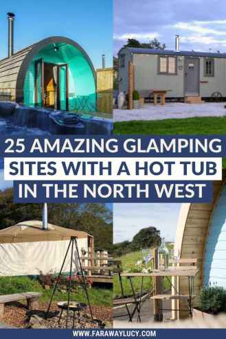 25 Amazing Glamping Holidays with a Hot Tub in the North West. From treehouses and shepherds huts to safari tents and yurts, here are 25 amazing glamping holidays with a hot tub in the North West. Click through to read more...