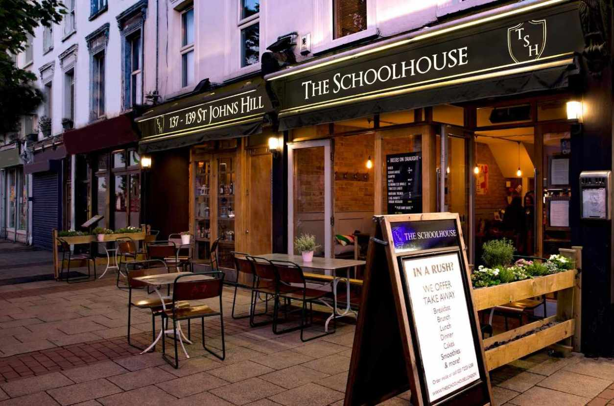 exterior-of-the-schoolhouse-restaurant-with-outdoor-seating