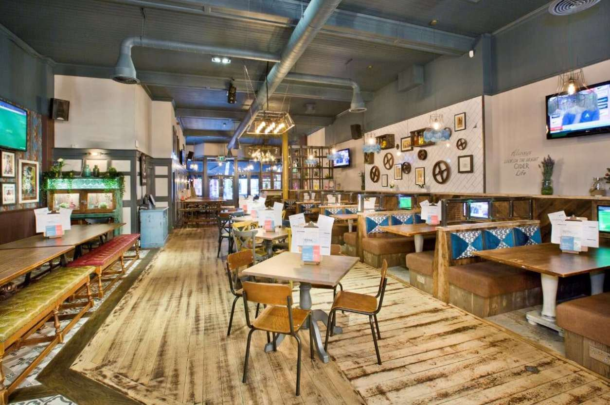 interior-of-the-distillery-with-restaurant-seating-bottomless-brunch-leicester
