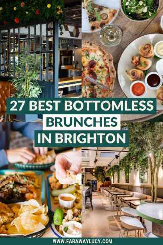 Bottomless Brunch Brighton: 27 Best Brunches You Need to Try [2021]. From bottomless pizza to drag brunches to floating bars, here are the 27 best places to go for bottomless brunch in Brighton! Click through to read more...