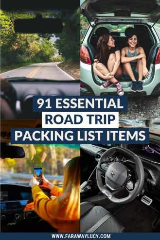 91 Essential Road Trip Packing List Items You Can't Forget [2021]. From entertainment to toiletries to emergency essentials, this road trip packing list includes 91 essential items you can't forget! Click through to read more...