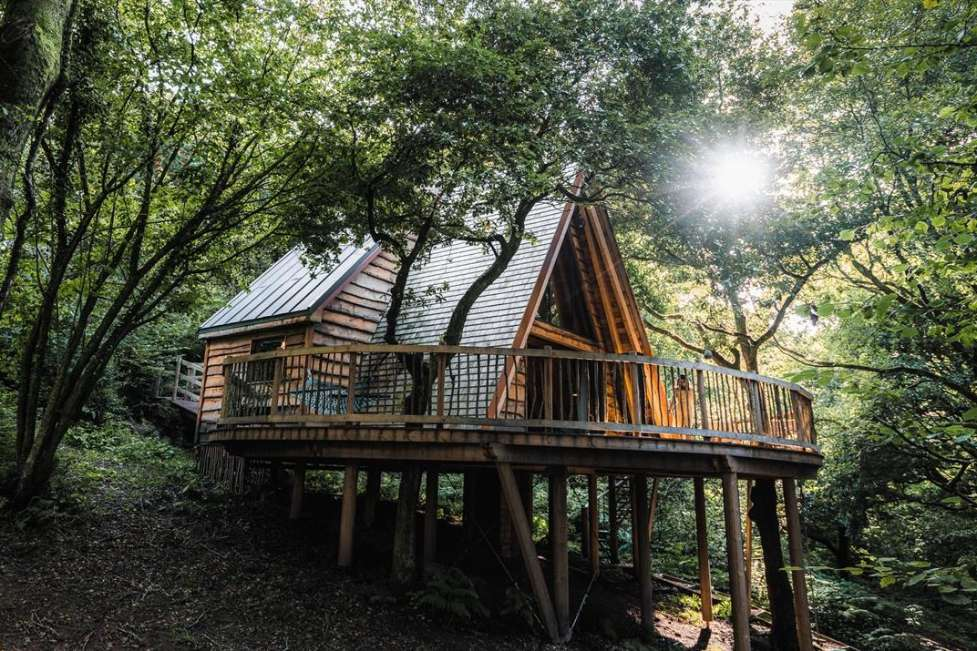 the-hudnalls-hideout-treehouse-on-decking-in-woodlan-glamping-gloucestershire