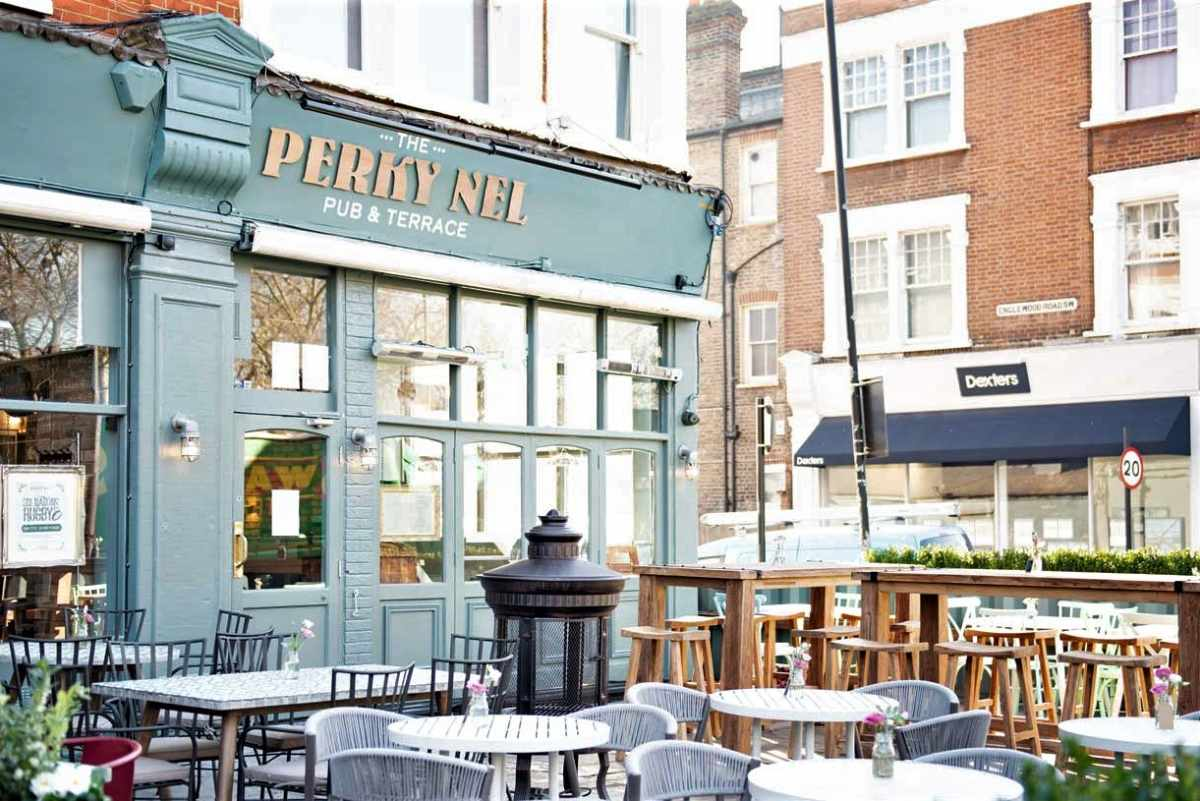 outdoor-seating-at-the-perky-nel-bar-and-terrace-bottomless-brunch-balham