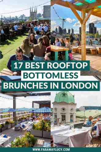 Rooftop Bottomless Brunch London: 17 Brunches with Great Views [2021]. From views of London Bridge to views of Nelson's Column, here are the 17 best places to go for a rooftop bottomless brunch in London! Click through to read more...