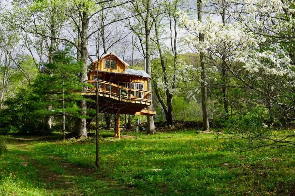exterior-of-celesterra-treehouse-treehouse-rentals-nc