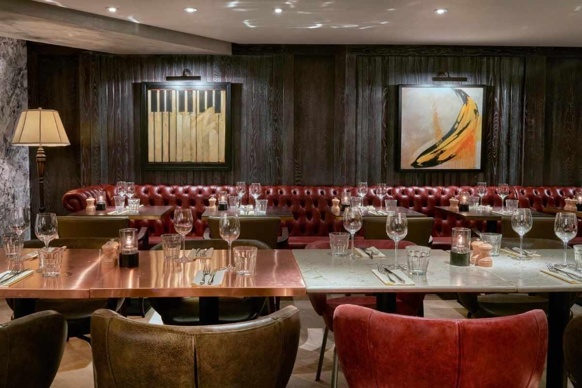 tables-inside-100-wardour-street-bottomless-brunch-soho