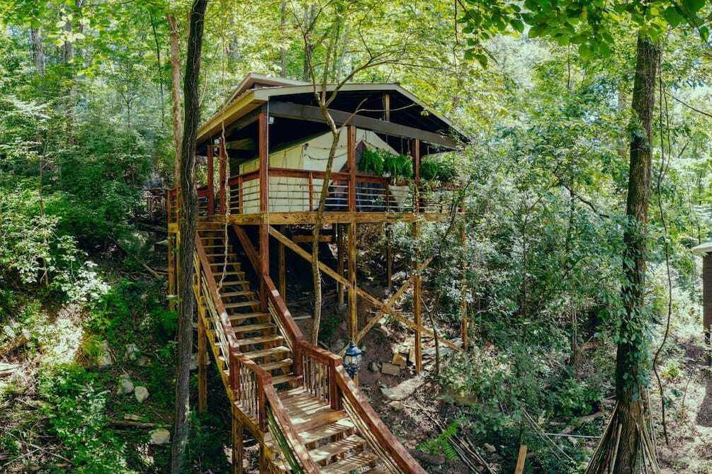 the-roost-glamping-tent-in-trees-glamping-tennessee