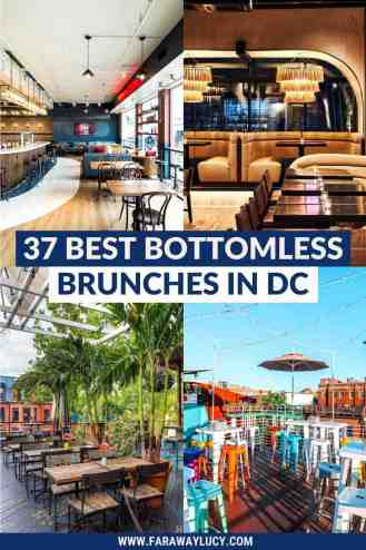 From rooftop bottomless brunches to brunches with bottomless food, here are the 37 best places to go for bottomless brunch in DC! Click through to read more...