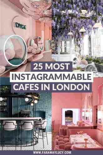 From pastel pink furniture to flowers hanging from the ceiling, here are the 25 most Instagrammable cafes in London for amazing photos! Click through to read more...