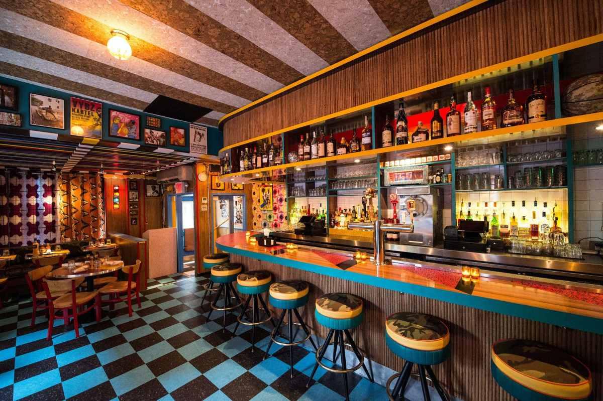 interior-of-miss-lilys-7A-café-bottomless-brunch-nyc