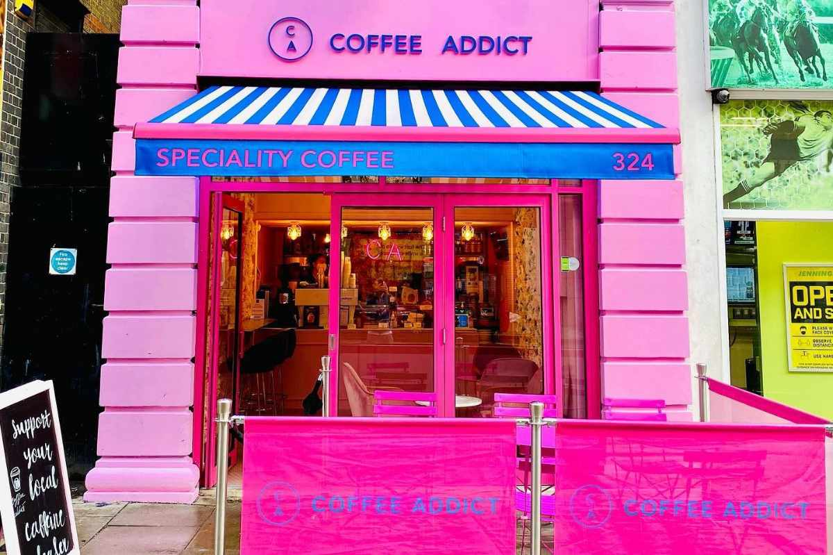 pink-exterior-of-coffee-addict-speciality-coffee-cafe