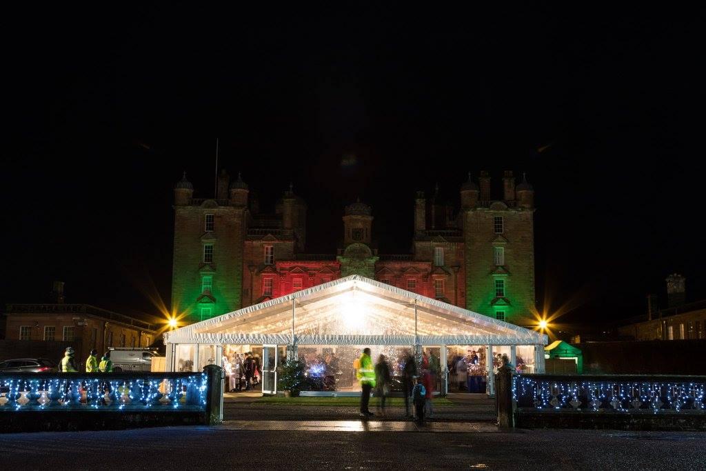 drumlanrig-castle-christmas-fair-at-night