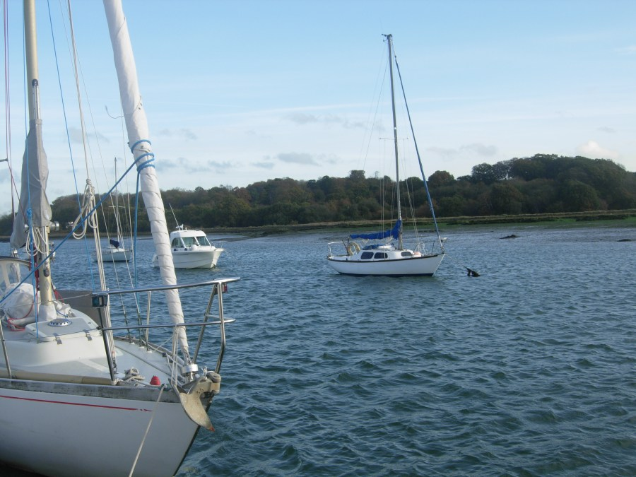 She of Feock bow on the river hamble