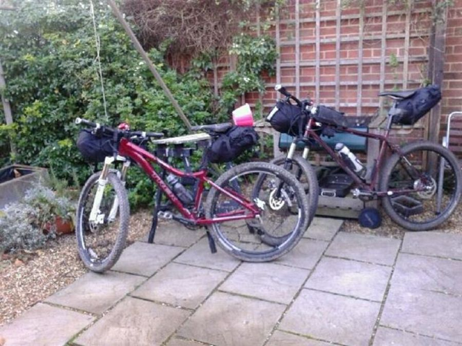 Bikes packed for trial