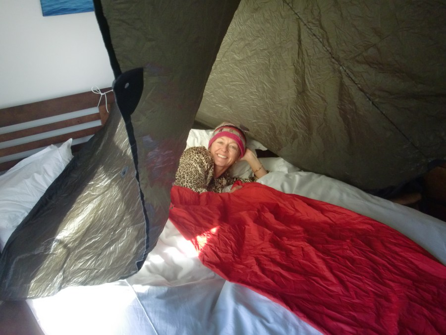 Sleeping under a tarp with a bivi bag