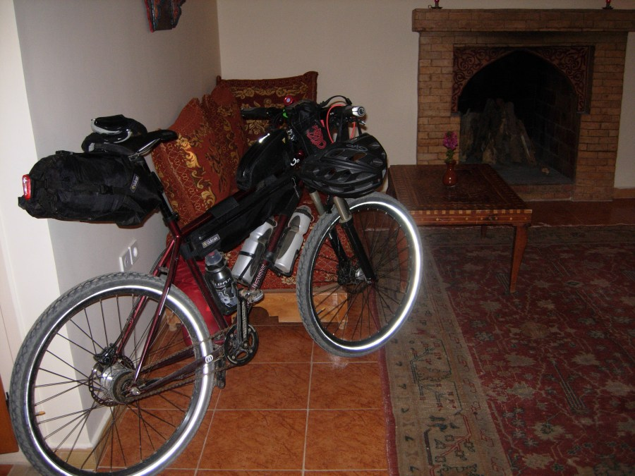 Bikes in a suite at Riad Hida
