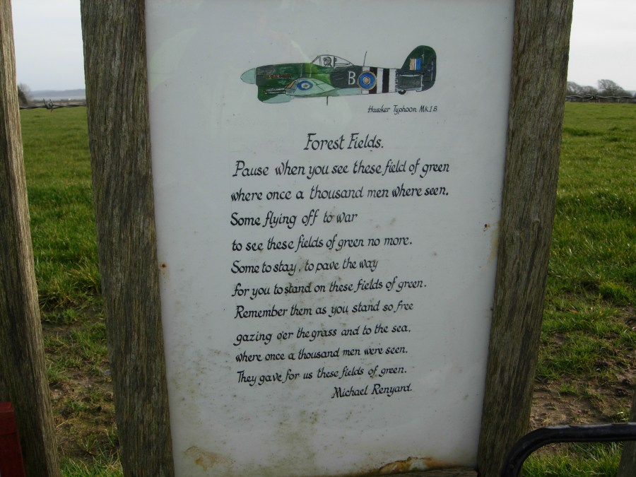 Forest Fields Poem pedalling the solent way