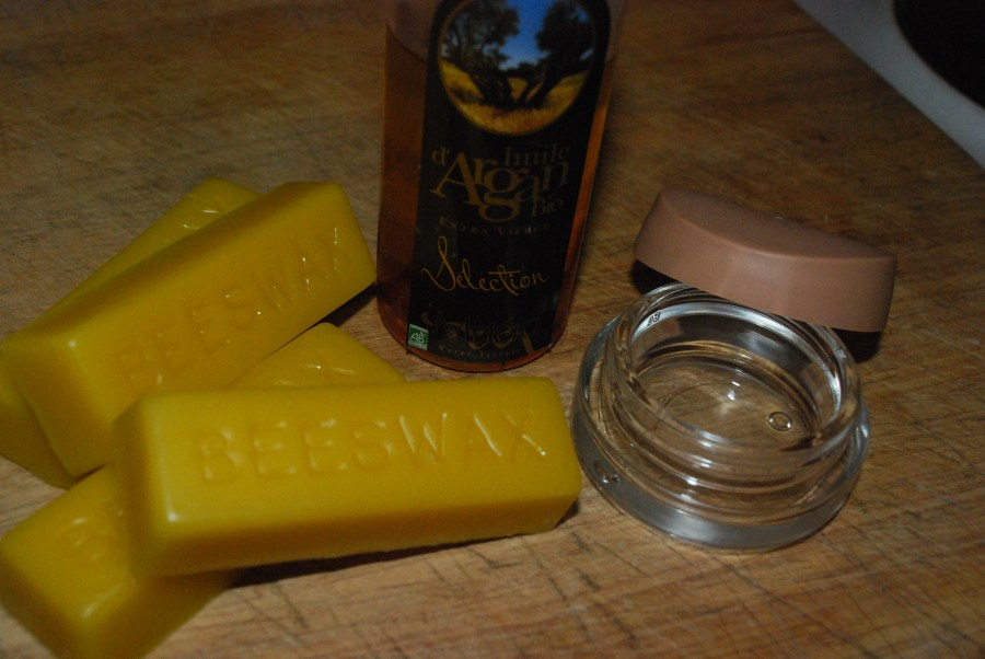 beeswax and argan oil