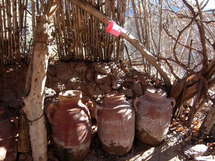 terracotta water containers