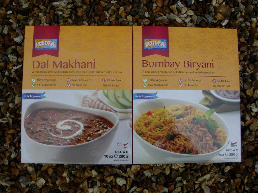 Packets of indian food