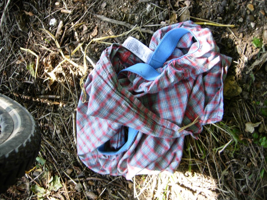 Discarded boxers belonging to unknown