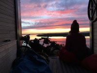 Watching sunrise at the observatory keyhaven