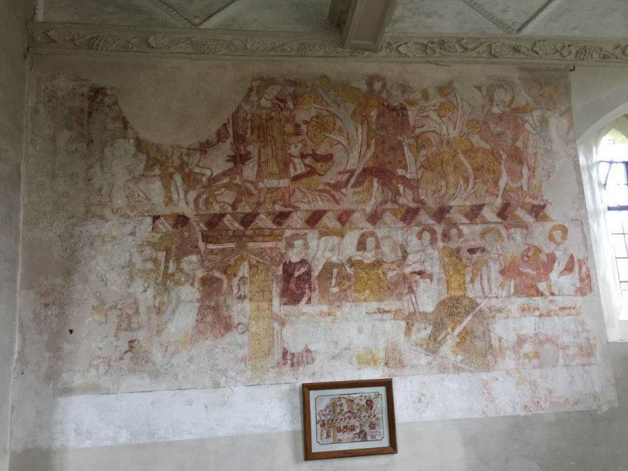 St Huberts Mural 14th C