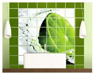 Fliesen in Bad und Küche aufpeppen mit Fliesenaufklebern