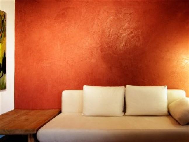 Kalkputz in Persisch Orange