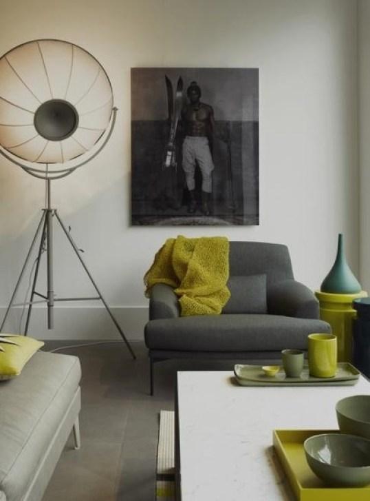 #Taupe kombiniert mit Apfelgrün (Foto: marie´s home)