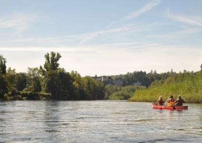 Entspanntes Paddel an der Dordogne