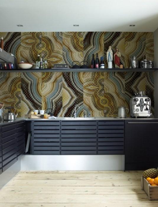 Tapete in der Küche versiegelt Wall&Deco