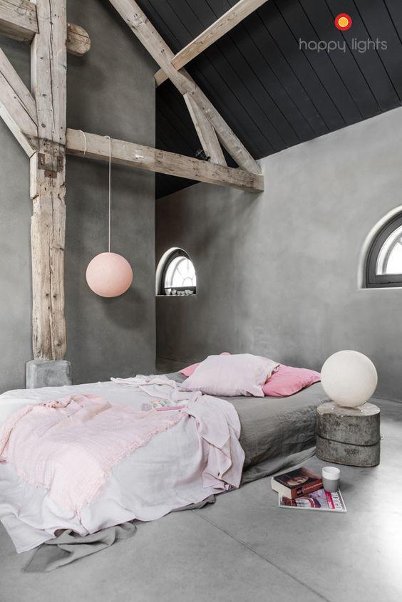 Grau Rosa wirkt hier modern und cool. Foto:happy lights