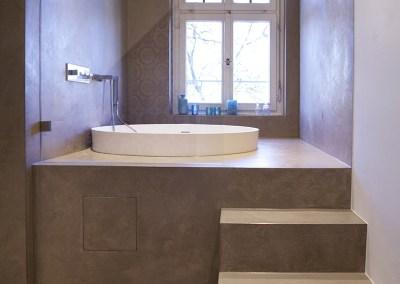 ein fugenloses Bad in wasserfestem Putz | farbefreudeleben