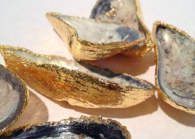 Muscheln vergolden