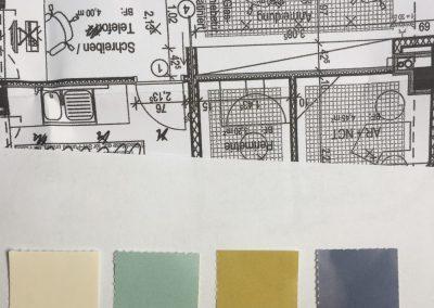Farbkonzept Innenraum