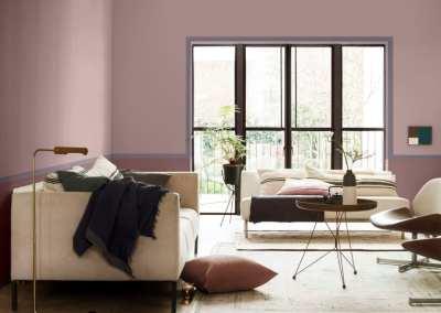 Rosenholz als Wandfarbe