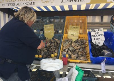 der Austernmarkt in Cancale