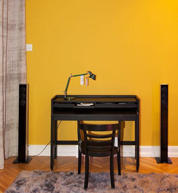 Wandfarbe senf, curry, gelb … und Icons – die neue Farbkollektion von Caparol