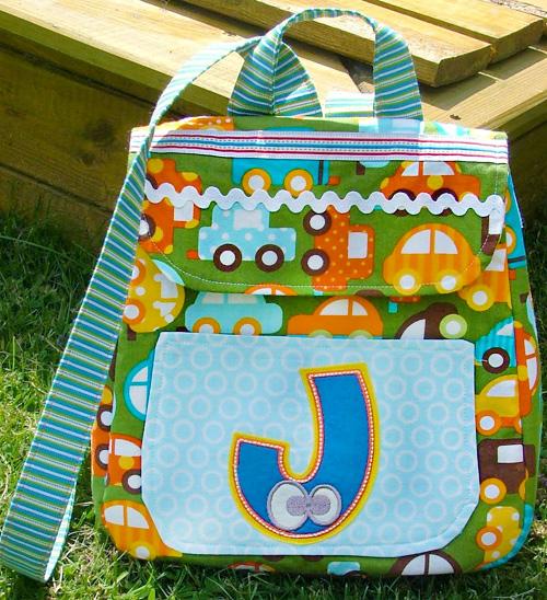 Kindergartenrucksack selber nähen, Schnittmuster farbenmix