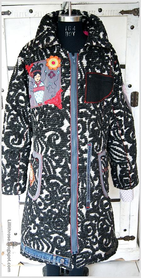 Schnittmuster Mantel für Damen, Anleitung farbenmix