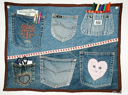 Recycle-style, Utensilo aus Jeans, farbenmix