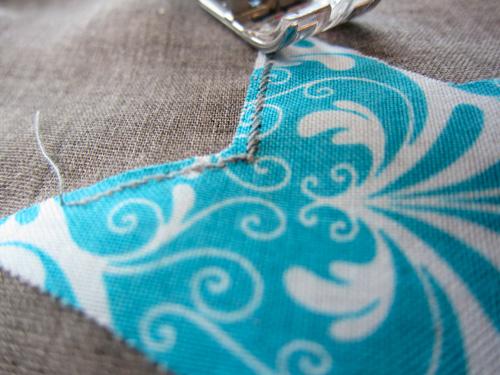 Schal nähen, applizieren, Anleitung farbenmix Taschenspieler