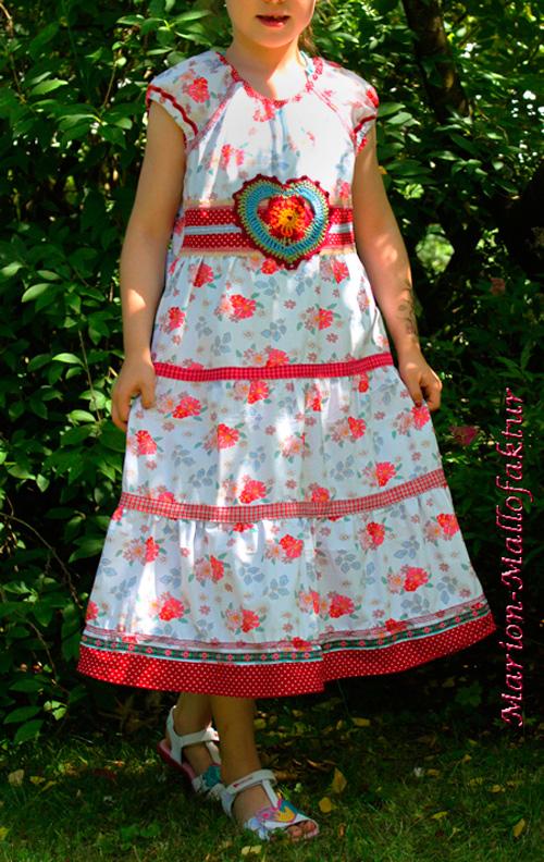 Sommerkleid Bluse Kleid Tunika Schnittmuster farbenmix selber nähen