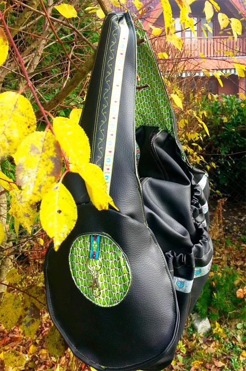 Taschenschnittmuster Tasche Anleitung Schnittmuster farbenmix Sporttasche selber nähen