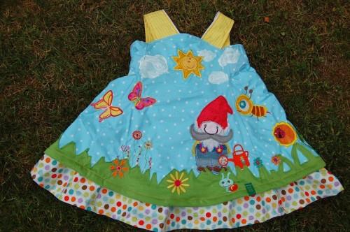 Kleid selber nähen Einschulung
