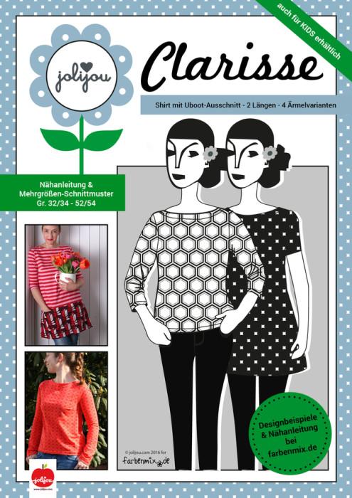Schnittmuster-Damenshirt-CLARISSE-Jolijou-farbenmix.de