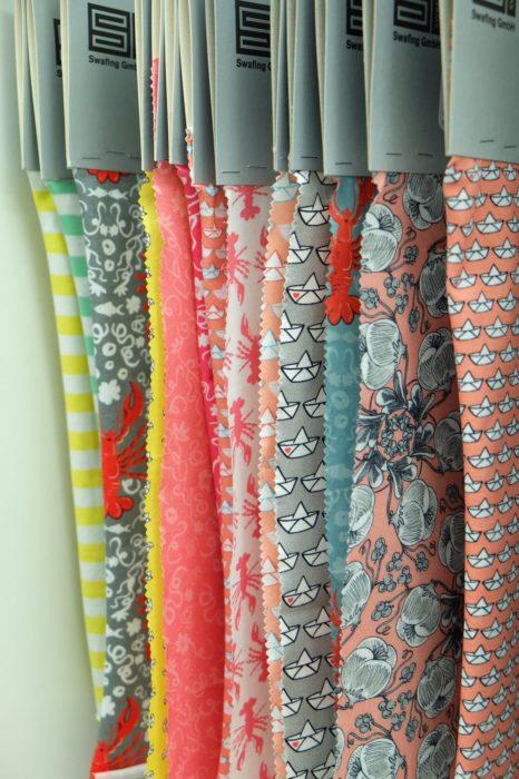 Stofflaschen von Swafing hier mit Anke Müller Cherry Picking Stoffdesigns