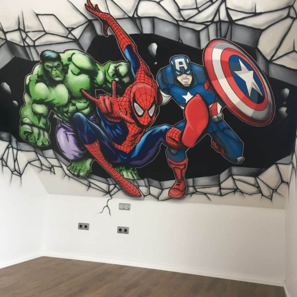 Marvels Avengers Captain America, Hulk, Spiderman